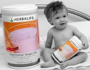 baby with big shake