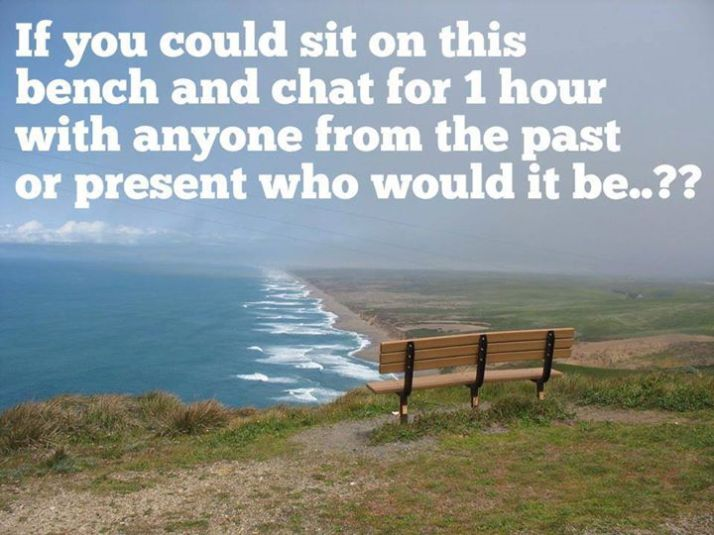 If you could sit on this bench...