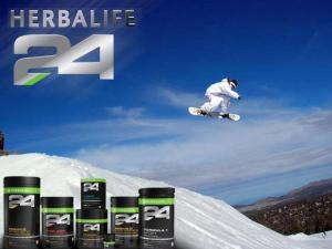 Snowboard with H24 products