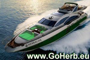 Yacht mit unserer Website